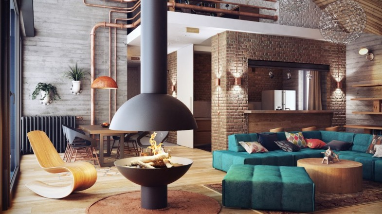cuisine style industriel bois salon vintage industriel nos conseils pour une d co industrielle - Cuisine Industriel Vintage